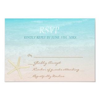 Elegante Strand-Hochzeit UAWG Karte
