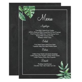 Elegante Tafel-Hochzeits-Menü-Karten-Vorlagen 12,7 X 17,8 Cm Einladungskarte