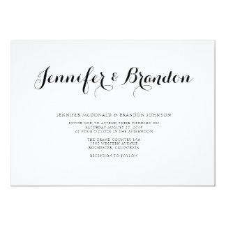 Elegante Texthochzeitseinladung 12,7 X 17,8 Cm Einladungskarte