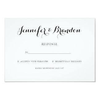 Elegante Texthochzeitseinladungswartekarte 8,9 X 12,7 Cm Einladungskarte