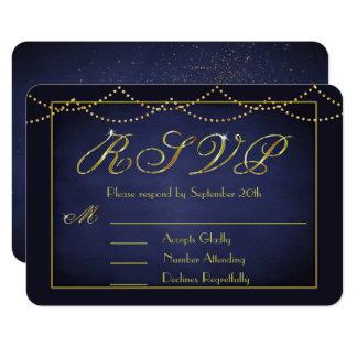 Elegante tiefe Blau-und GoldGlitter UAWG Karten 8,9 X 12,7 Cm Einladungskarte