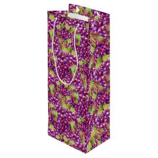 Elegante Trauben-Papierwein-Tasche Geschenktüte Für Weinflaschen