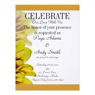 Elegante u stilvolle goldene Hochzeit Individuelle Ankündigskarten