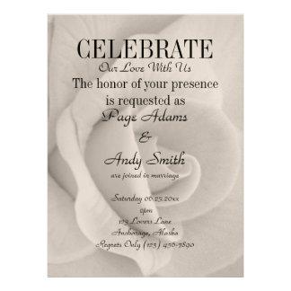 Elegante u stilvolle Rosen-Hochzeit Ankündigungskarte
