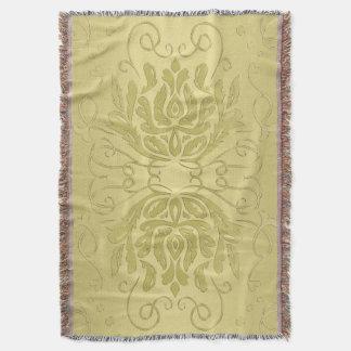 Elegante überlagerte Goldblumendamast-Decke Decke