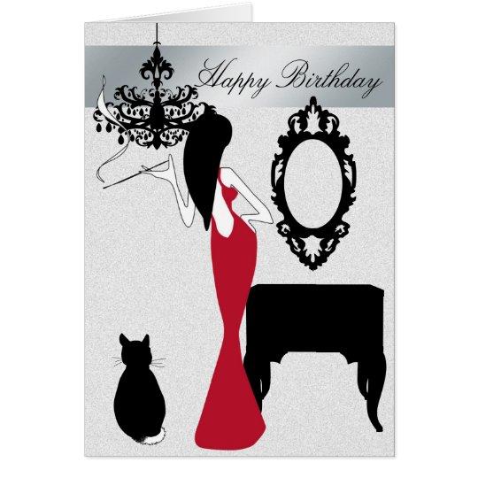 Elegante und schicke Geburtstags-Karte Grußkarte