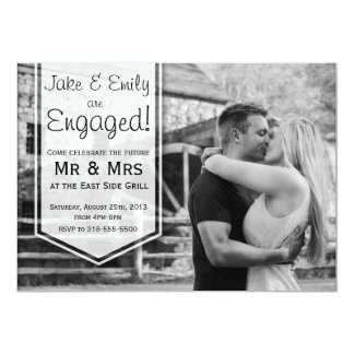 Elegante Verlobungs-Mitteilung 12,7 X 17,8 Cm Einladungskarte
