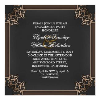 elegante Verlobungseinladungen Quadratische 13,3 Cm Einladungskarte