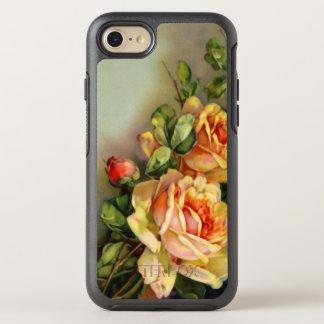 Elegante viktorianische goldene Rosen OtterBox Symmetry iPhone 7 Hülle
