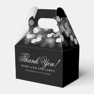 Elegante Wedding bezaubernde silberne Lichter Geschenkschachtel