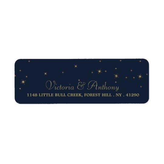 Elegante Wedding Marine-u. Goldfallende Sterne