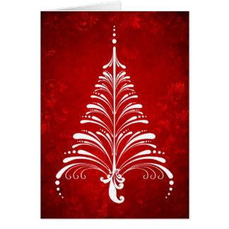 Elegante Weihnachtsbaum-Karte Karte