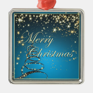 Elegante Weihnachtsmagie-Verzierung Silbernes Ornament
