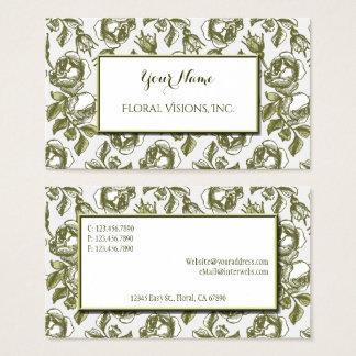 Elegante Weiß-und GoldRosen-kundenspezifische Visitenkarte