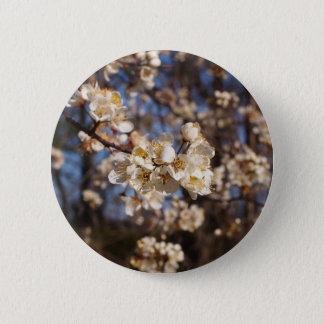 Elegante weiße Hartriegel-Kunst Runder Button 5,1 Cm