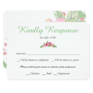 Elegante weiße Hochzeit UAWG mit Blumenkarte Karte