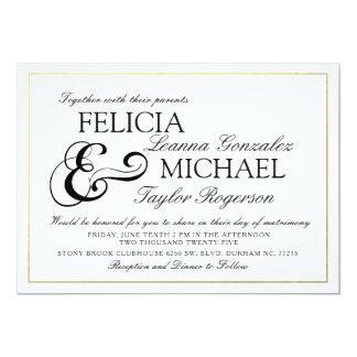 Elegante weiße klassische Art-Hochzeit des Karte