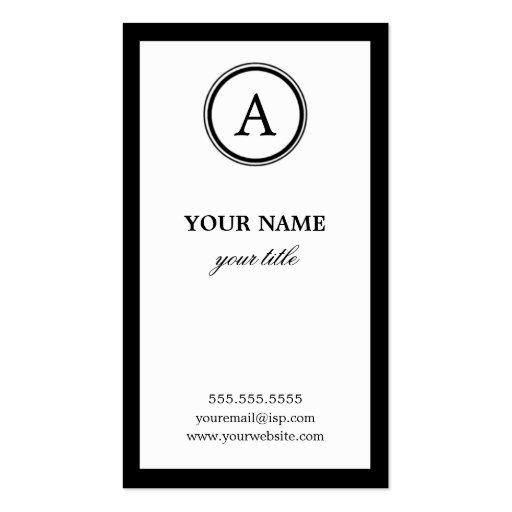 Elegante weiße und schwarze visitenkartenvorlage