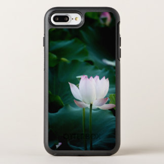 Elegante weißer Lotos-Blume OtterBox Symmetry iPhone 7 Plus Hülle