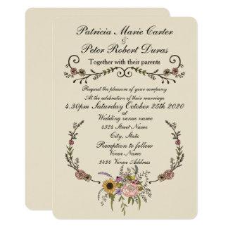 """Elegante Wildblume, die Invitation.5"""" x 7"""" Karte 12,7 X 17,8 Cm Einladungskarte"""