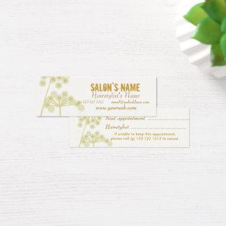 Elegante Wildblumen-modernes berufliches Blumen Mini Visitenkarte