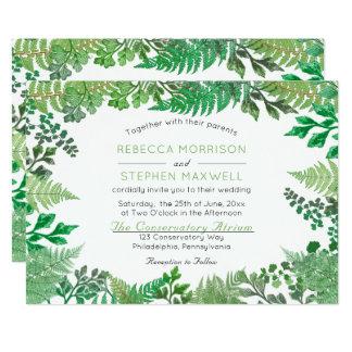 Elegante wilde Farne des Grün-|, die Einladungen