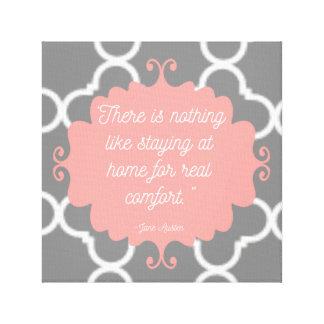 Elegante Zitat-Leinwand Janes Austen Leinwanddruck