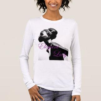 Eleganten Dame Long Sleeved Langarm T-Shirt