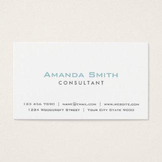 Eleganter beruflicher einfacher weißer visitenkarten