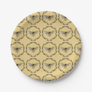 Eleganter Bienen-Druck-Teller Pappteller