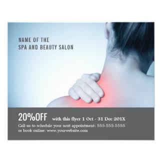 Eleganter blaues Grau-Foto-Massage-Therapeut 11,4 X 14,2 Cm Flyer