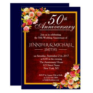 Eleganter Blumenburgunder-Hochzeitstag laden ein Karte