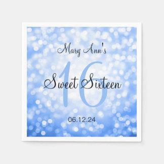 Eleganter Bonbon 16 Geburtstags-blaue Serviette