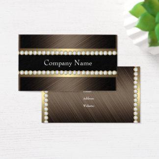 Eleganter Bronzeschokoladen-schwarzer Visitenkarte