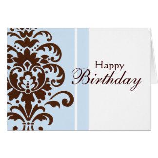 Eleganter Damast für alles Gute zum Geburtstag - Karte