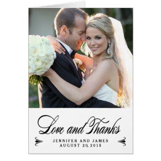 Eleganter Dank Wedding | dankt Ihnen Karte
