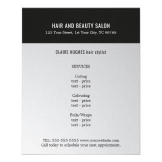 Eleganter dunkler 11,4 x 14,2 cm flyer