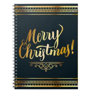 Eleganter Entwurf der frohen Weihnachten Gold Notizblock