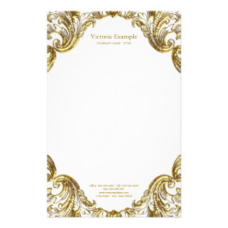 Eleganter extravaganter Goldstrudel Briefpapier