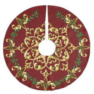 Eleganter festlicher Weihnachtsbaum-Rock Polyester Weihnachtsbaumdecke