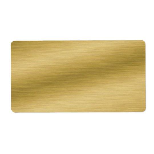 Eleganter gebürsteter Goldblick Versandetiketten