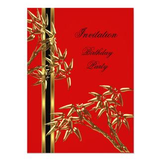 Eleganter Geburtstags-Party-Asiats-Bambus Karte