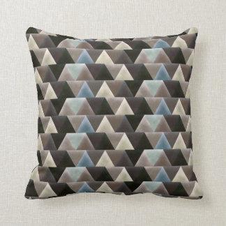 Eleganter geometrischer blaues Brown-Imitat-Samt Kissen