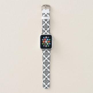 Eleganter geometrischer Damast Apple Watch Armband