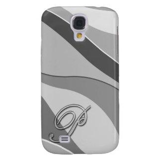 Eleganter Glasmonogramm-Buchstabe P Galaxy S4 Hülle
