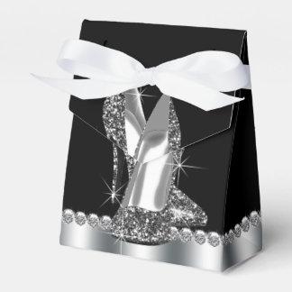 Eleganter Glitter-hohe Fersen-Schuh Geschenkkarton