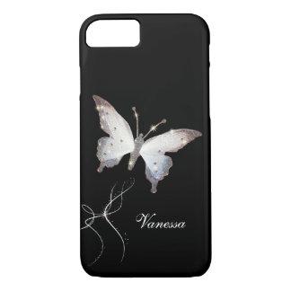 Eleganter Glitter-Schein-Glamour-Schmetterling und iPhone 8/7 Hülle