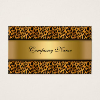 Eleganter Goldleopard-Tierdruck Visitenkarte
