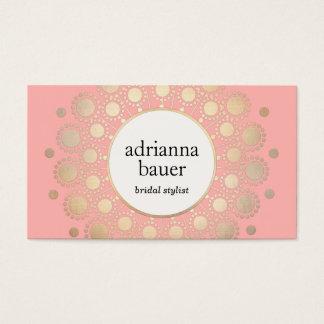Eleganter GoldMandala-Rosa-Schönheits-Salon Visitenkarten
