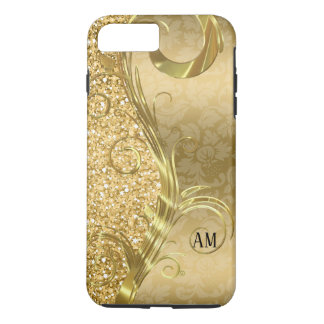 Eleganter GoldWirbel und -Glitzer iPhone 8 Plus/7 Plus Hülle